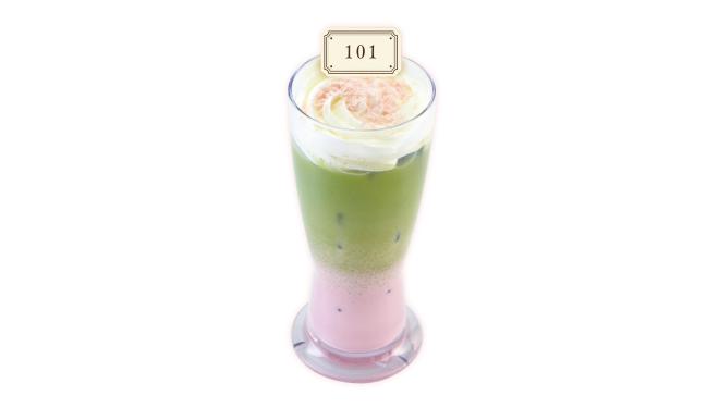 A3! アニメイトカフェコラボ 咲也とシトロンの イチゴ抹茶ラテ