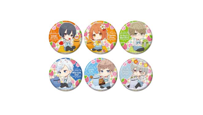 ツキノ芸能プロダクション アニメイトカフェコラボ いちごと桜とピクニック キャラバッジコレクション 3個セット
